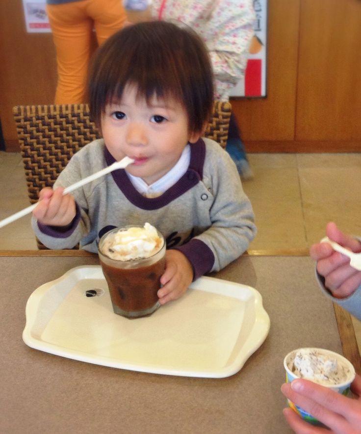 コーヒーフロート…横取り♪