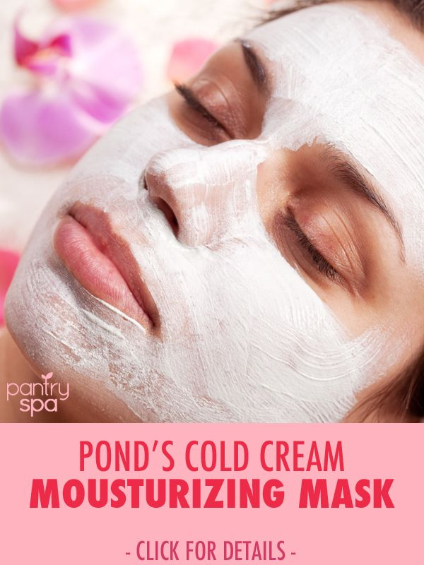 Pond's Cold Cream is great on its own, but try out this technique for using it as a mask. Adding a warm wash cloth will make your face super soft and mousturized!