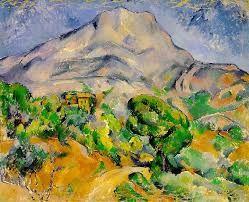 """""""Sainte-Victoire vue de la route du Tholonet"""", Paul Cézanne, 1896-98; olio su tela, 78x99 cm; l'opera è conservata presso il Museo dell'Ermitage, San Pietroburgo."""
