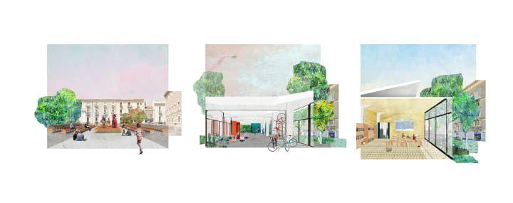 Higher ground - Collage - Architecture rapresentation - Piazza Lupo - Catania - AAA Architetti cercasi - Arcipelago - architettura collettiva
