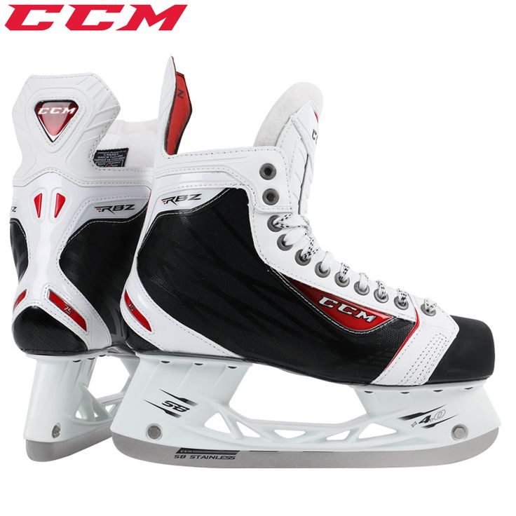 The CCM RBZ 75 LE skates provide a fresh look to the popular RBZ line of hockey skates. This model features sublimated tech mesh with a compound blend inner core. These two elements in conjunction with a relatively stiff inner layer, creates a sandwich-like construction that offers a good amount of lateral support. #hockey