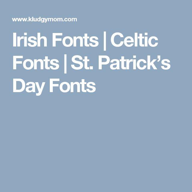 Irish Fonts | Celtic Fonts | St. Patrick's Day Fonts