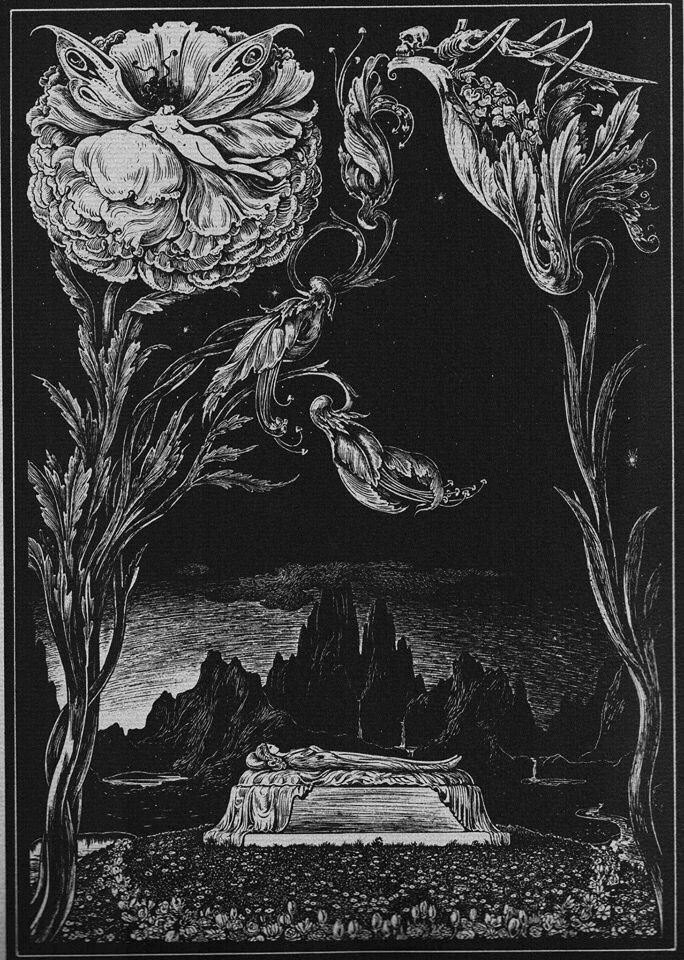 Illustration for the works of Edgar Allan Poe © Alberto Martini