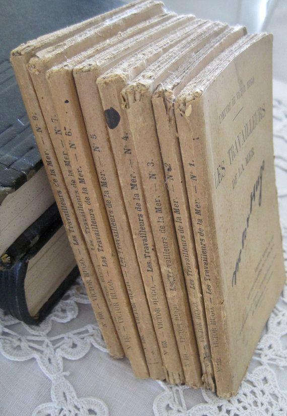 Victor Hugo Fabulous Fatigued French Bundle Les Travailleurs De La Mer Vols 1-9 ,