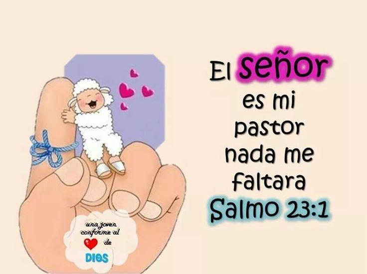 Salmos 23:1 Jehová es mi pastor; nada me faltará.♔