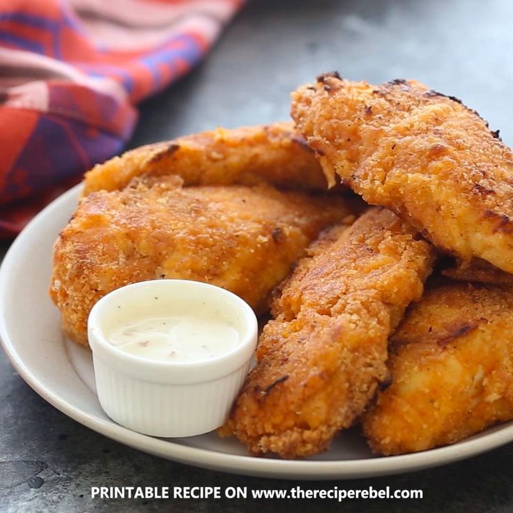 Crispy Sriracha Buttermilk Oven Fried Chicken Fingers : Tasty