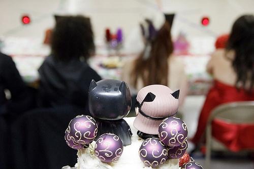 Bethany & Joe's geeky winter church wedding   Offbeat Bride
