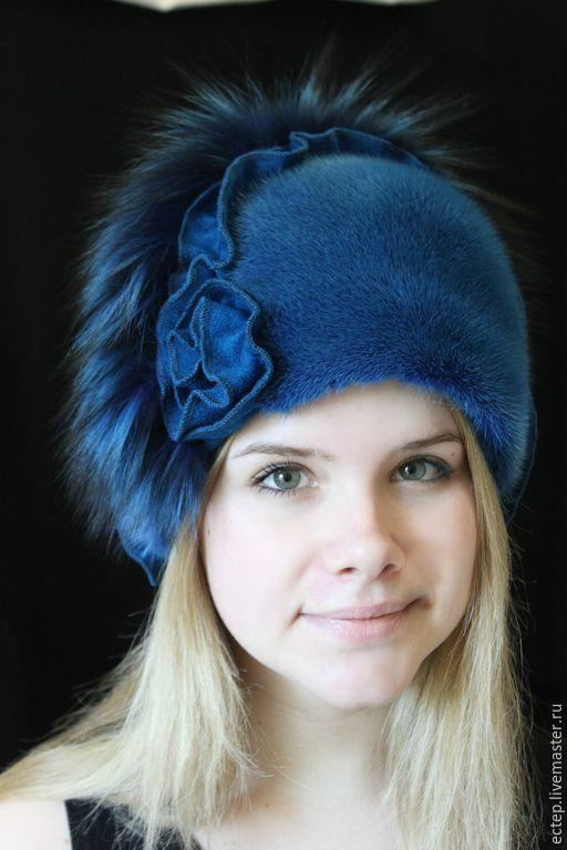 """Купить Шапочка """"Джессика"""" - меховая шапка, теплая шапка, норковая шапка, шапка из норки"""