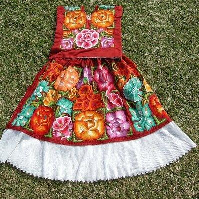 Oaxacan dress. Oaxaca, Mexico