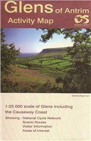 OS Northern Ireland Glens of Antrim 1:25 000 Laminated