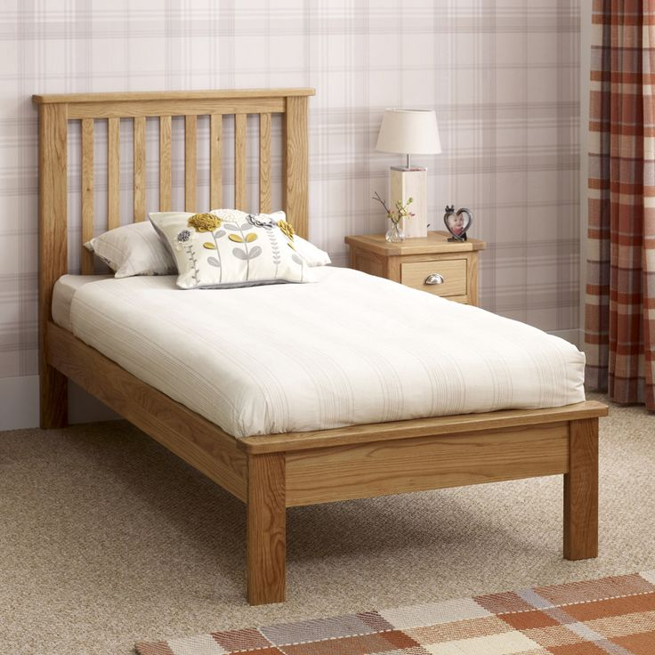 Best Kent Solid Oak 3Ft Single Bed Low Foot End Single Bed 400 x 300