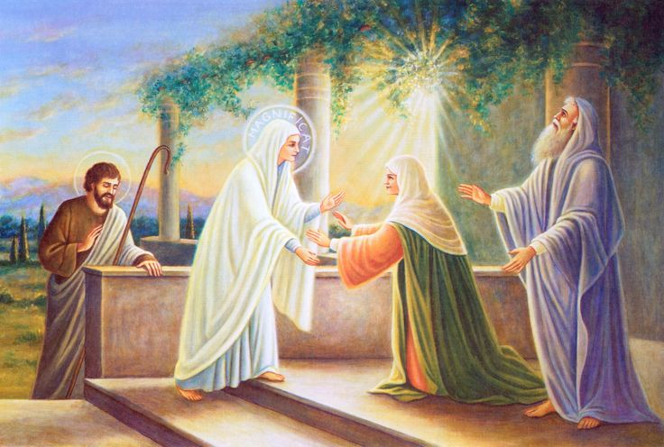 Pembawa ♪♫ Sukacita ♫♪ Sorgawi : Kunjungan TUHAN di dalam rahim Maria kepada Elisabet dll .... Bagaimana dengan Anda, saya serta semua orang Katolik pada waktu menerima KUNJUNGAN TUHAN dalam rupa EKARISTI ..., sejauh mana hati kita bergejolak kegirangan dan jiwa sukacita.