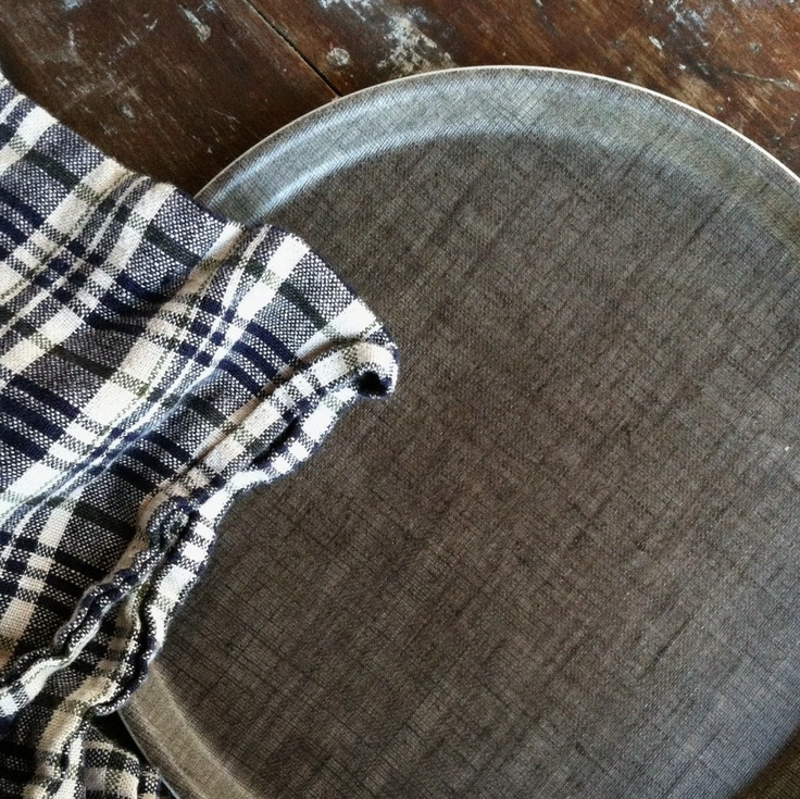shop fog linen — Linen Tray: Round Natural