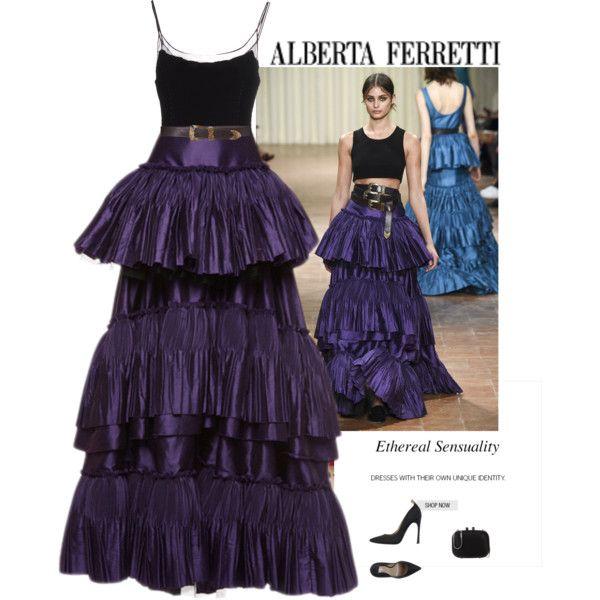 A fashion look from November 2016 by andreearaiciu featuring Alberta Ferretti, Philosophy di Alberta Ferretti and Carolina Herrera