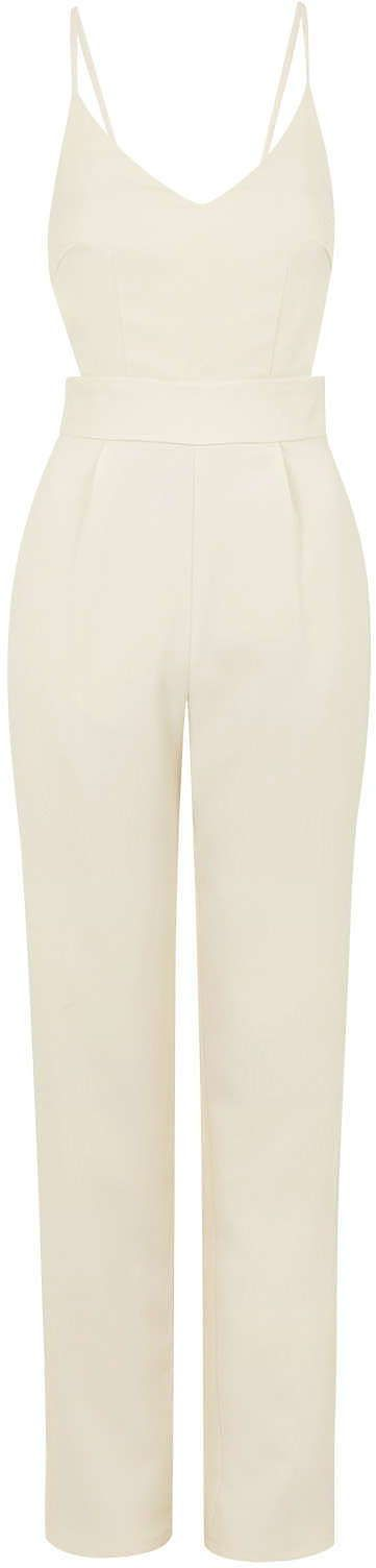 Womens cream jumpsuit from Topshop - £48 at ClothingByColour.com