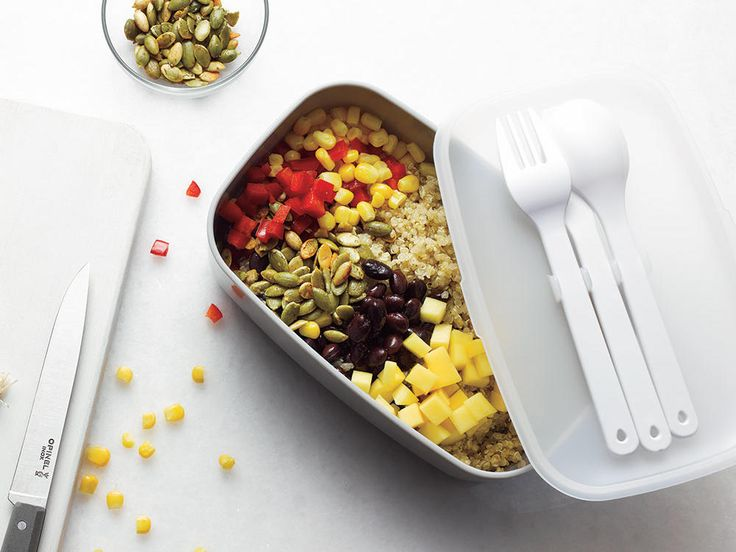 Southwestern Bowl | After you make sandwiches for the kids' lunches, pack yourself a healthy lunch to get through the afternoon slump. These recipes can be made ahead and are loaded with nutrient-rich ingredients that pack your brown-bag full of vitamins, minerals, protein, and fiber. Perfect for grown-ups and kids with adventurous appetites.