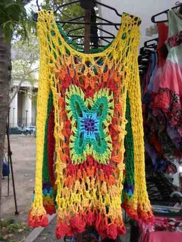 Sweater Calado Crochet, Artesanales, Hilo Algodon.-