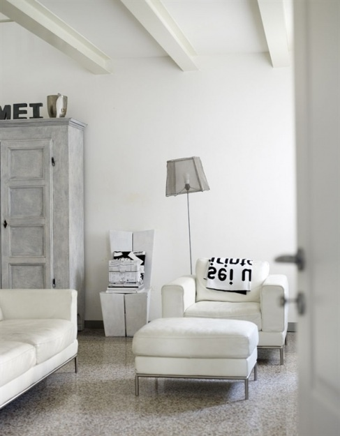 White Space - the white decor and furniture of this lovely living room brings an abundance of light to this room.