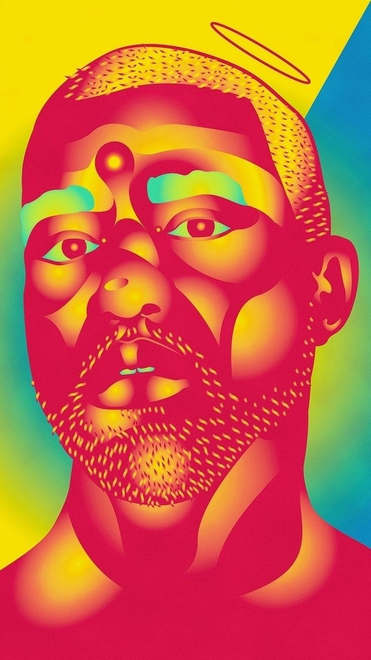 Maybe it's true?  Taylor Crisdale on Ello || Taylor Crisdale is an Australian Digital Artist, Designer & Creative Director. His work focuses on the strange, bright, geek + pop.   ____________________________________ #art #vector #taylorcrisdale #holy #kanye #yeezy #graphic #gradient #design #fashion #male #portrait