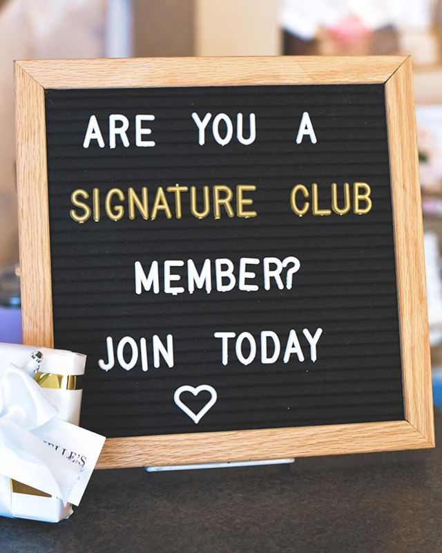 By joining the Signature Club at Michelleu0027s