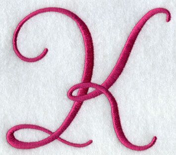 Fancy Flourish Capital Letter K 4 Inch K Is For Kathy