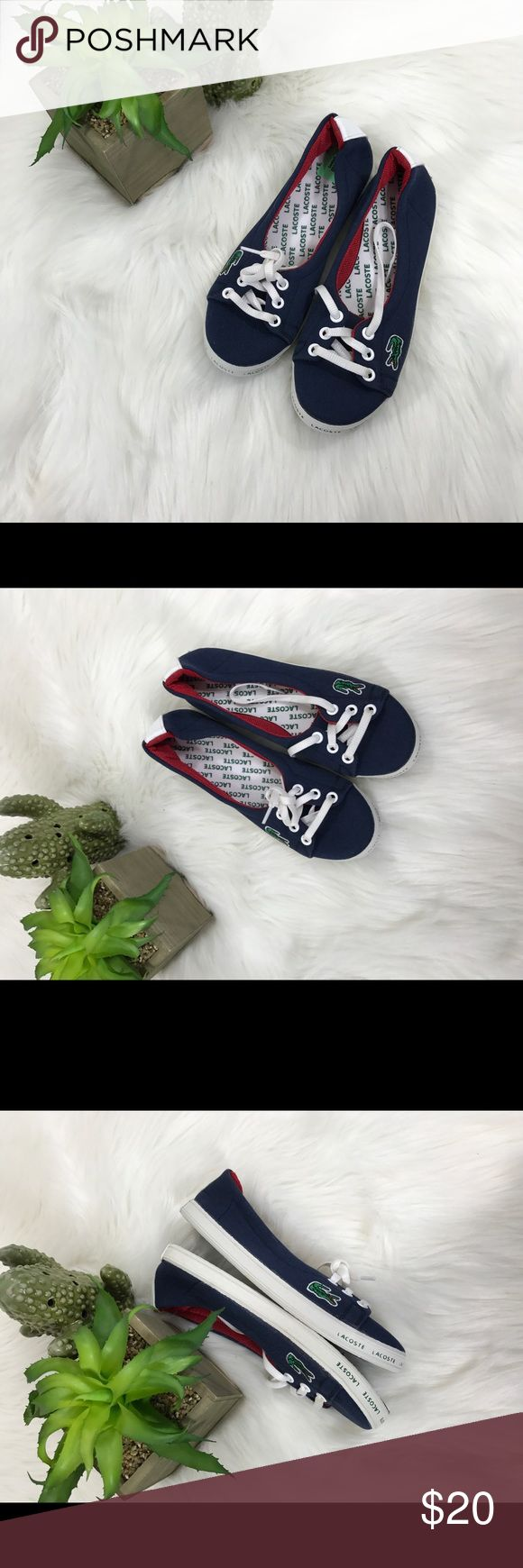 Lacoste blue shoes Size 36 kids Excellent condition  Navy blue According to the online size chart, these are us 3.5 kids Lacoste Shoes