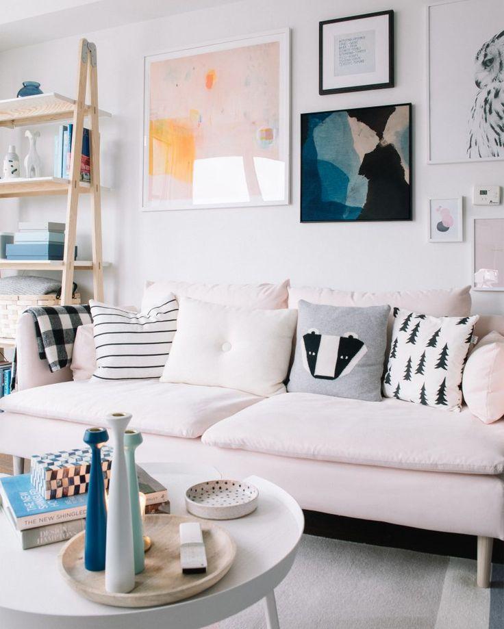 Light Pink Soderhamn Sofa