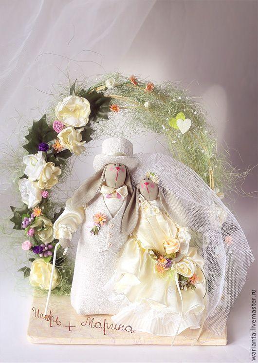 Зайцы - неразлучники свадебные. Игрушка текстильная - интерьерная игрушка, зайцы тильда, тильда, неразлучники