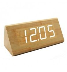 LED Digital Wood Clock - JK-839 - White