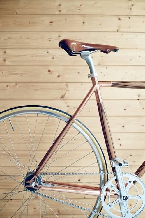 Copper-plated-lugged wooden fixie.