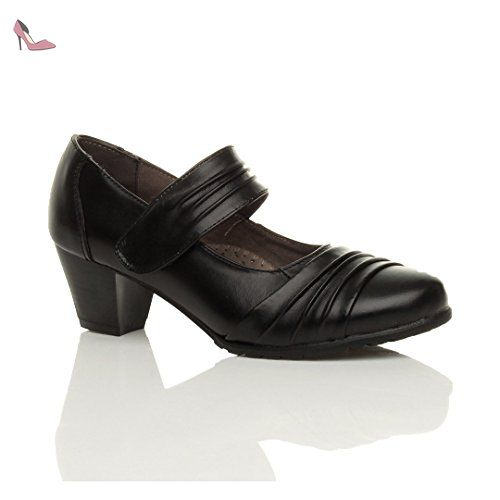 Femmes talon moyen confort babies escarpins chaussures cuir pointure 4 37 - Chaussures ajvani (*Partner-Link)