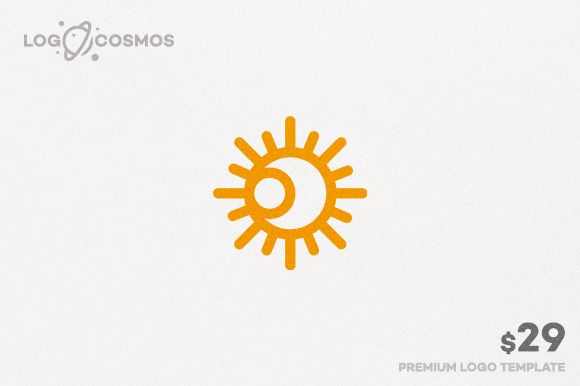Eclipse - Moon & Sun Logo by Logo Cosmos on Creative Market