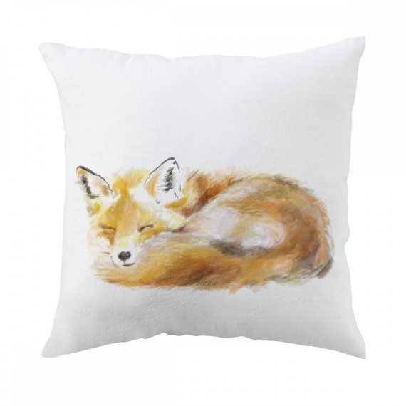 Fox Pillow 18x18 inch  Decorative Cushion Cover by TripleStudio