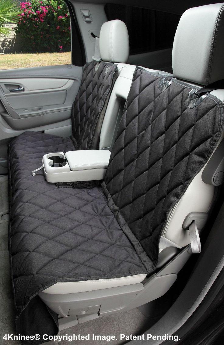 Split Rear Car Seat Cover For Dogs - Hammock Option - Black Regular