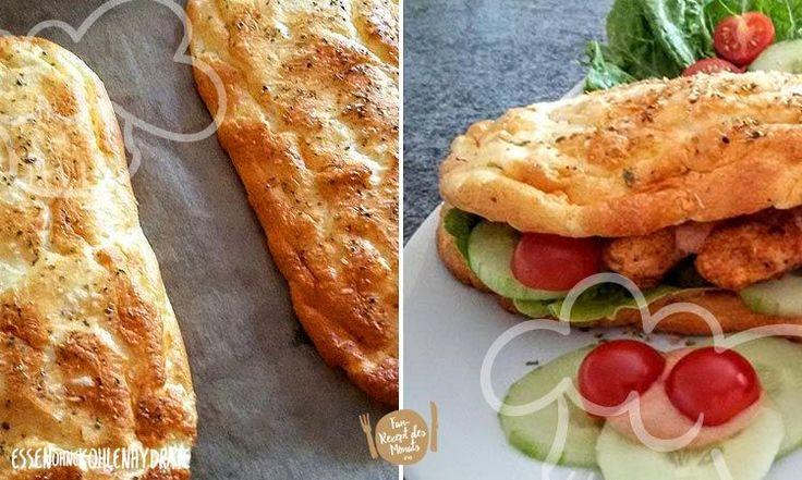 Low Carb Rezept für ein leckeres Cheese-Oregano Fitness-Sandwich. Wenig Kohlenhydrate und einfach zum Nachkochen. Super für Diät/zum Abnehmen.