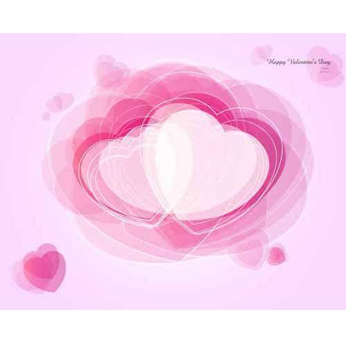 Абстрактный фон с розовыми сердечками