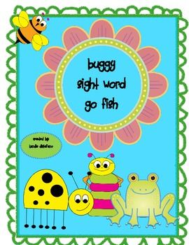 This is a sight word game played just like Go Fish but with a bug theme. Your students will have so much fun practicing/learning their sight words ...