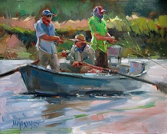 River Color,Mary Maxam, oil painting,Big Horn River ...