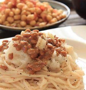 飲み会や外食が続くと、胃腸が疲れていると感じる時はありませんか?そんな時は、さっぱりとした味わいの大根おろしを使った料理がおすすめです。今回は、15分以内でサッと作れる簡単パスタレシピをまとめてご紹介します。 ■納豆と大根おろしのパスタ  納豆と大根おろしのパスタ。by あいらさん 5~15分 人数:2人 つるつる、もちもち食感のパスタに納豆と大根おろしを加えた、さっぱり和風パスタです。最後に粗引