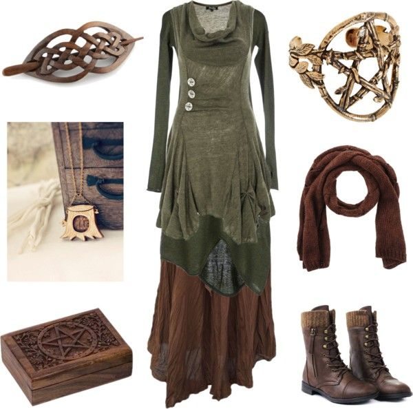 thebuttonfaery:hexeknochen:The Woodcarver by maggiehemlock featuring bird jewelryManostorti longsleeve mini dress, $93 / Khaki top, $46 / Gypsy boho skirt, $14 / Cuff combat boots / Pamela Love bracelet bangle / Bird jewelry / LIU JO oblong scarve, $35 / Home decor*swoons*