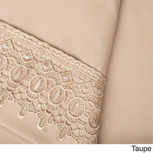 Southshore Fine Linens Vilano Lace Extra Deep Pocket Sheet Set