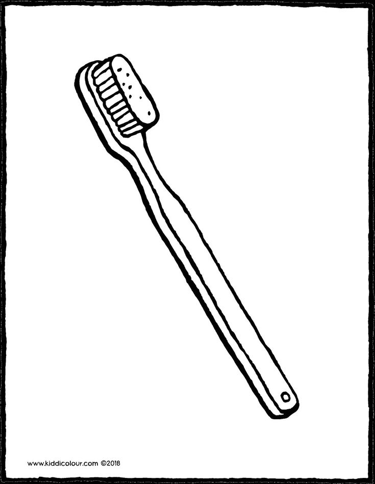 Toothbrush Kiddicolour In 2021 Brushing Teeth Coloring Pages Colouring Pages