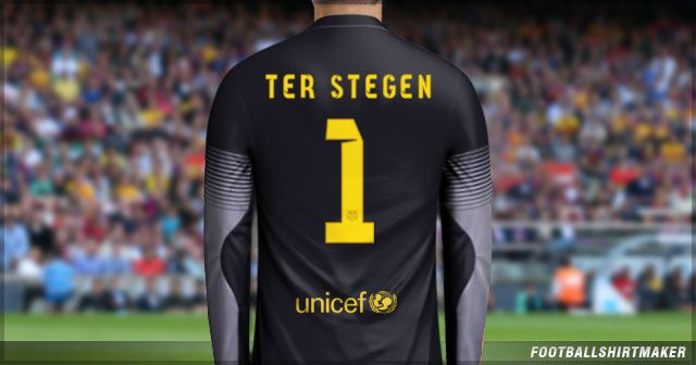 Camiseta de arquero de Barcelona de Ter Stegen