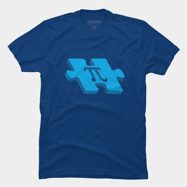 Pi puzzle. Custom Printed in the USA using eco-friendly inks, Just For You Our non-heather colored tees are 100% ringspun cotton, and our heather-colored tees are a 60/40 cotton/polyester blend. Both garments are designed for premium softness and minimal shrinkage.