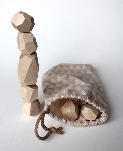 dřevěné kostičky