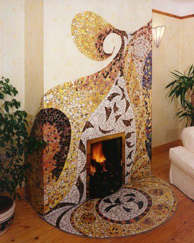 25 best Mosaic fireplace ideas on Pinterest White fireplace