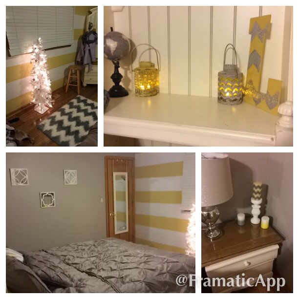 Yellow and gray room:)