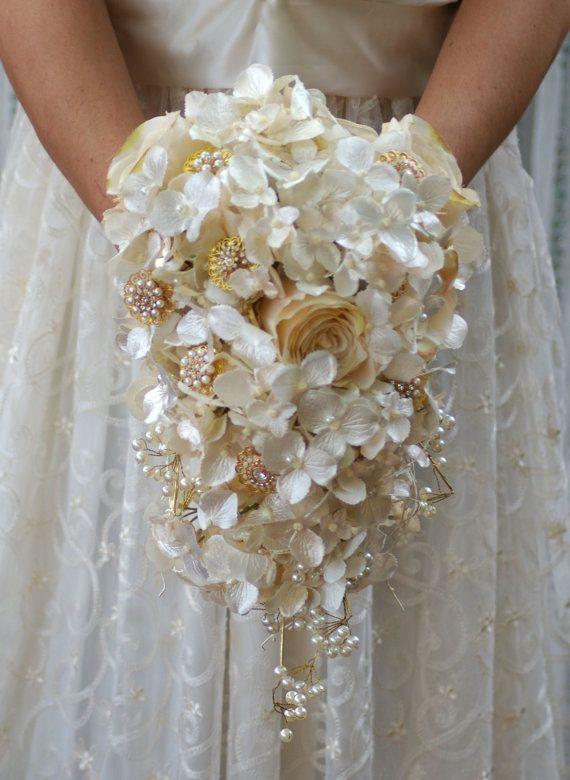 Vintage Ivory Wedding Bouquet Fashion Dresses