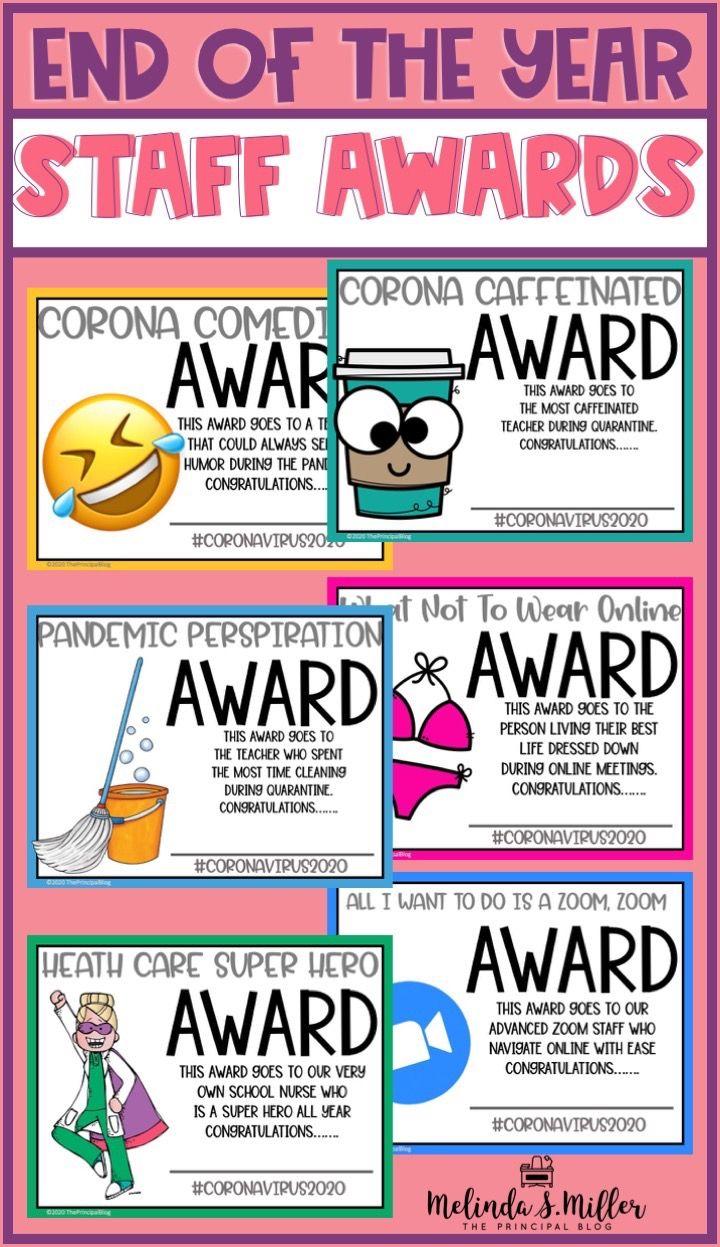 Funny End Of The Year Staff Awards Staff Awards Teacher Morale Teacher Awards