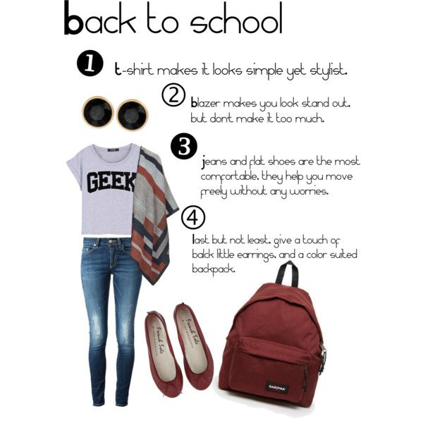 back to school by srsstreetcouture on Polyvore featuring polyvore, fashion, style, Topshop, Dondup, Eastpak and Kenneth Cole